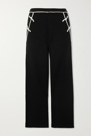 Nave two-tone cashmere straight-leg track pants