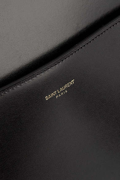 Saint Laurent Totes Cabas Uptown glossed-leather tote