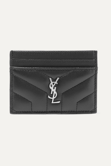 Quilted Textured Leather Cardholder by Saint Laurent