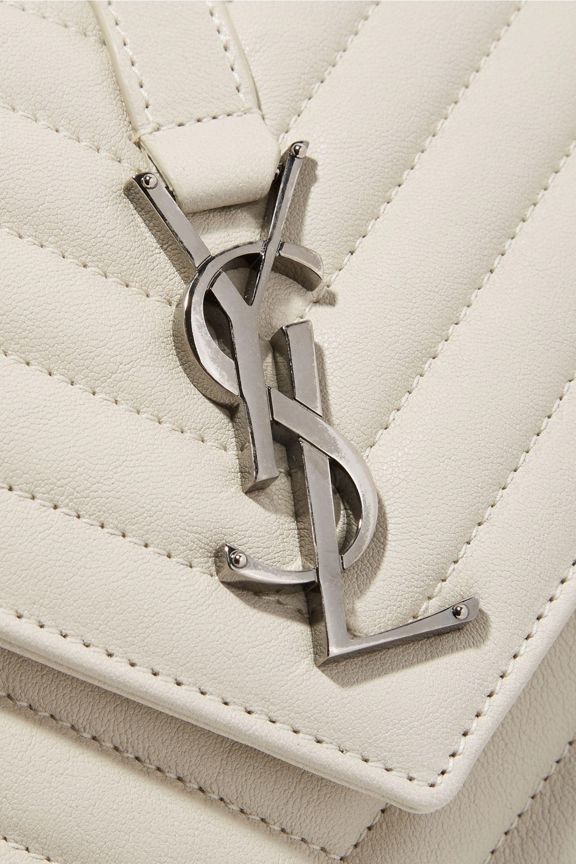 SAINT LAURENT College medium quilted textured-leather shoulder bag
