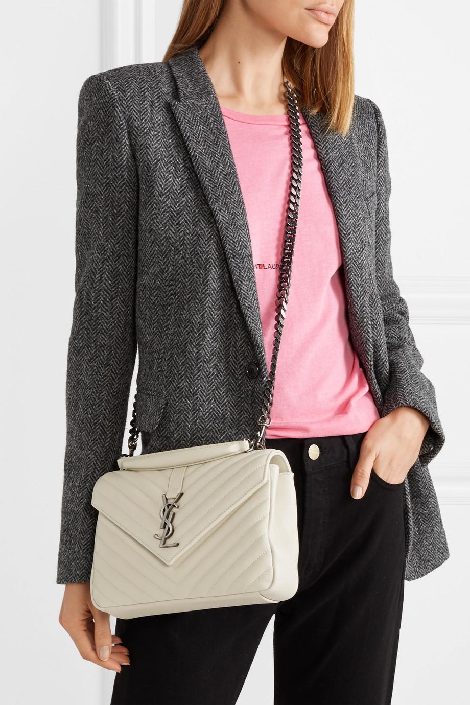 9ec726d9b5ca Saint Laurent College medium quilted leather shoulder bag