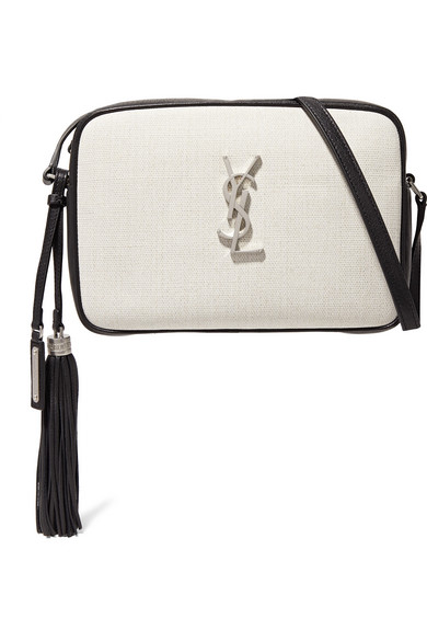 Saint Laurent Bags Lou canvas and leather shoulder bag