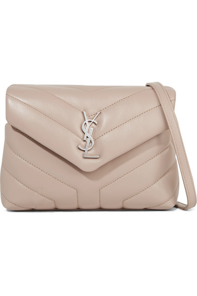 Loulou Toy Quilted Leather Shoulder Bag in Beige