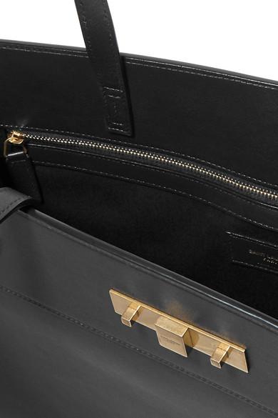 d09fad62489 SAINT LAURENT. Manhattan medium leather tote. $2,350. Play. Zoom In