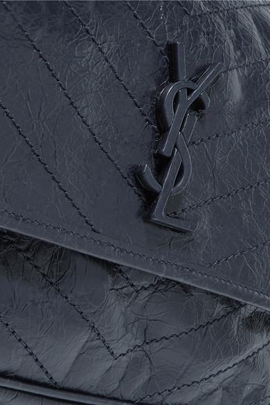 Saint Laurent. Niki medium quilted crinkled glossed-leather shoulder bag.  £1 a135a56e63cd4
