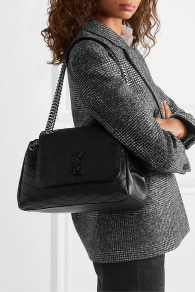 5f14ec340764 Saint Laurent. Nolita large quilted leather shoulder bag.  2
