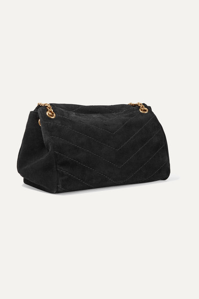 e26d0692fc887c SAINT LAURENT | Nolita medium quilted suede shoulder bag | NET-A ...