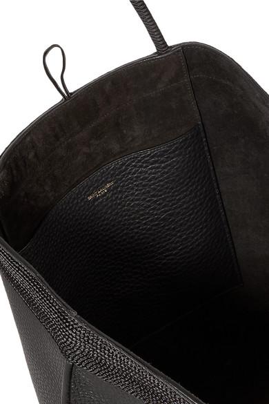 e159cebaf2111 Saint Laurent. Patti macramé-trimmed textured-leather tote. £1