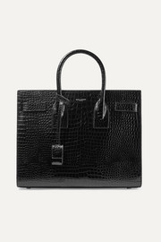 Sac De Jour small croc-effect leather tote