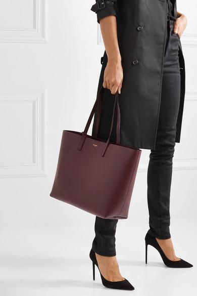 Saint Laurent Bags Shopper large textured-leather tote