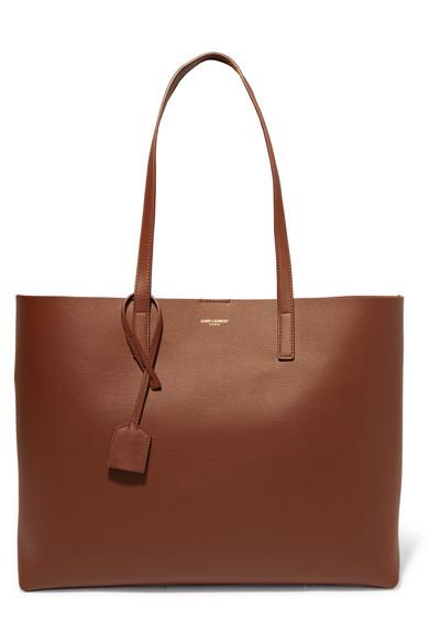 Shopper Leather Tote by Saint Laurent