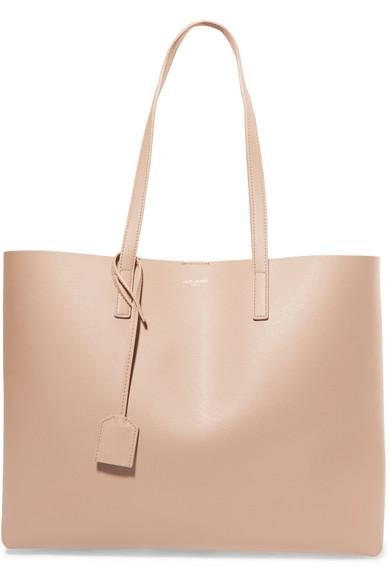 Shopper Large Leather Tote by Saint Laurent