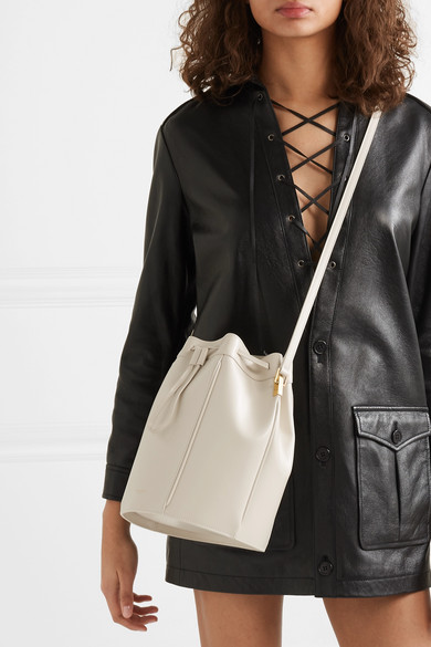 Saint Laurent Small Talitha Leather Bucket Bag in 2020