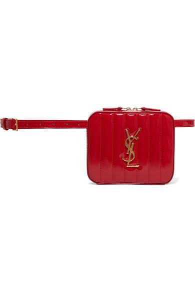 Saint Laurent Belt-bags Vicky quilted patent-leather belt bag