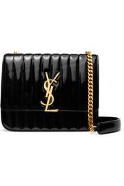 생 로랑 Saint Laurent Vicky large quilted patent-leather shoulder bag