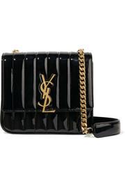 생 로랑 Saint Laurent Vicky medium quilted patent-leather shoulder bag