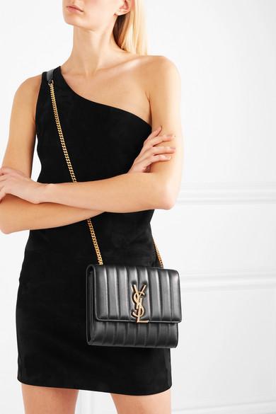 Saint Laurent Bags Vicky quilted leather shoulder bag