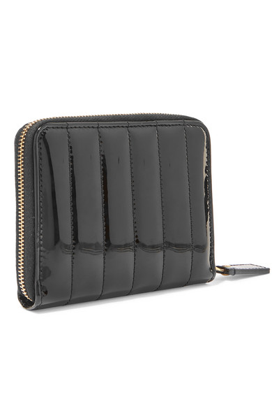 Saint Laurent Wallets Vicky quilted patent-leather wallet