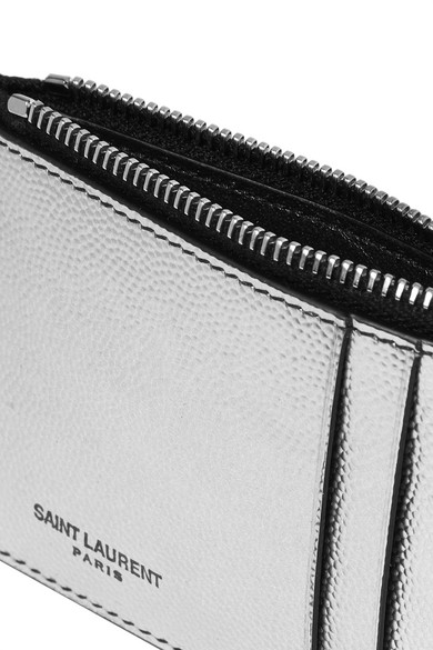 saint laurent porte cartes en cuir textur m tallis. Black Bedroom Furniture Sets. Home Design Ideas