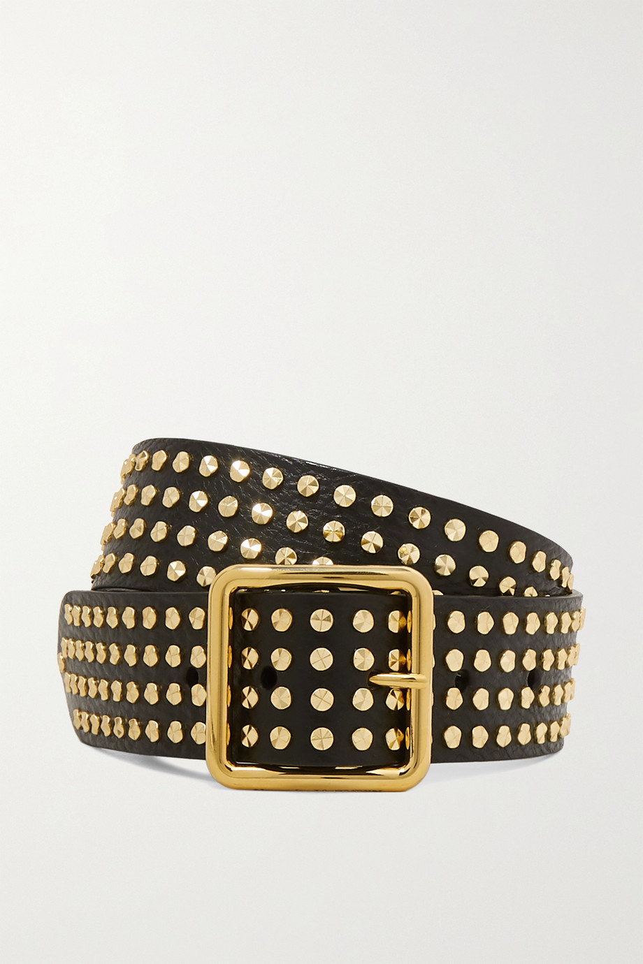 Alexander McQueen Studded textured-leather waist belt