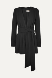 Belted crepe playsuit