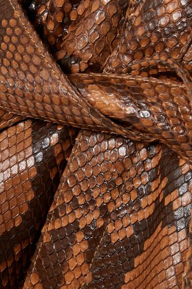 Saint Laurent Suits Belted lace-up python playsuit