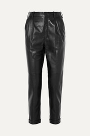 Saint Laurent Leather straight-leg pants