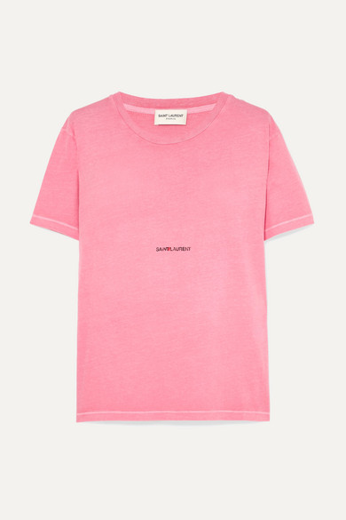 Logo Cotton Jersey T-Shirt - Pink Size S in Bright Pink