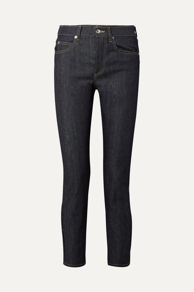 EVE DENIM Silver Bullet High-Rise Straight-Leg Jeans in Dark Denim