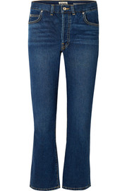 Jane cropped high-rise flared jeans