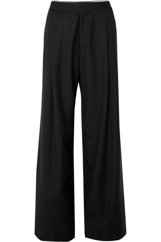 Wales Bonner 缎布边饰羊毛斜纹布裤
