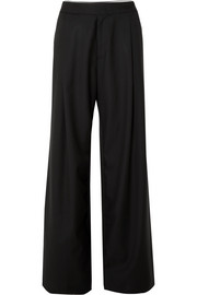 Wales Bonner Satin-trimmed wool-twill pants