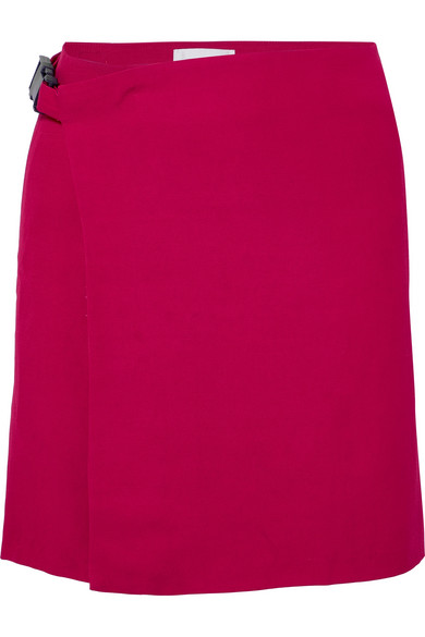 Wales Bonner Skirts Woven wrap mini skirt