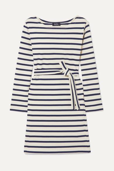 Belted Striped Cotton Jersey Dress by A.P.C. Atelier De Production Et De Création