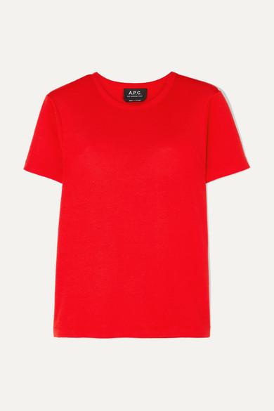 A.P.C. | A.P.C. Atelier de Production et de Création - Cotton-jersey T-shirt - Red | Goxip