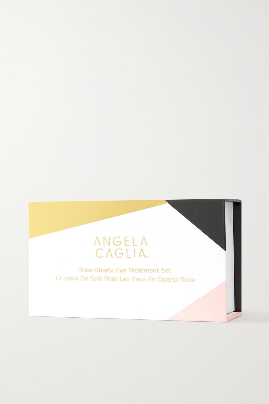 Angela Caglia 玫瑰花蕾眼部按摩石英(两件装)