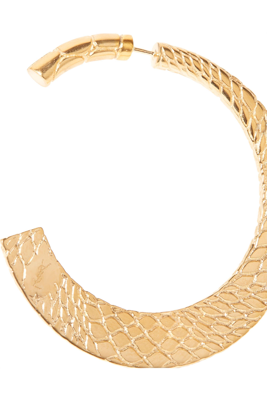SAINT LAURENT Gold-tone hoop earrings
