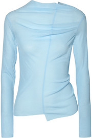 REJINA PYO Alix draped cutout jersey top