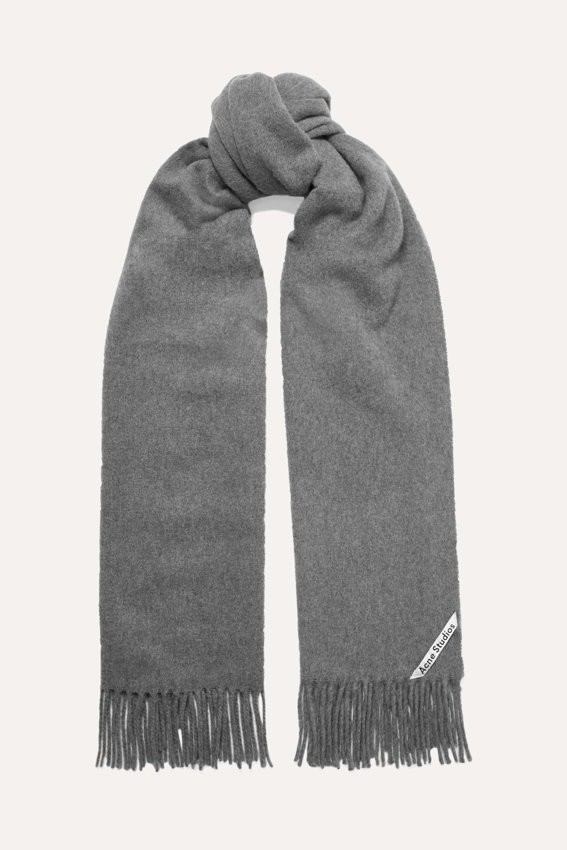 Acne Studios Canada fringed cashmere scarf