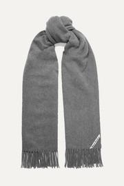 아크네 스튜디오 캐나다 프린지 캐시미어 스카프 그레이 Acne Studios Canada fringed cashmere scarf