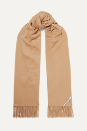 Canada fringed cashmere scarf