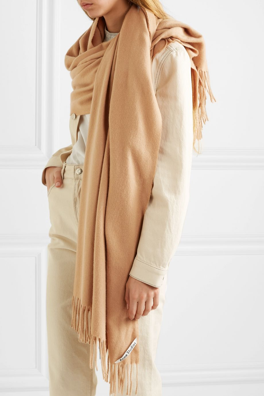 Acne Studios Fringed cashmere scarf
