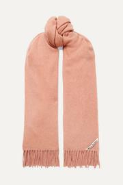 아크네 스튜디오 캐나다 프린지 캐시미어 스카프 앤틱로즈 Acne Studios Canada fringed cashmere scarf
