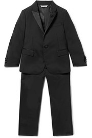 Ages 4 - 6 satin-trimmed wool-blend suit