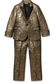 Ages 2 - 5 satin-trimmed brocade suit