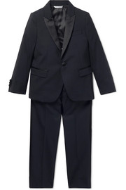 Ages 2 - 6 satin-trimmed wool-blend suit