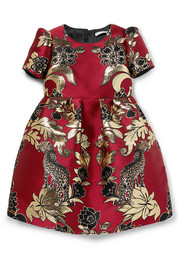 Ages 2 - 6 brocade and tulle dress