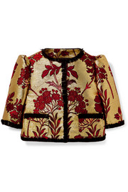 Ages 2 - 6 lace-trimmed brocade jacket