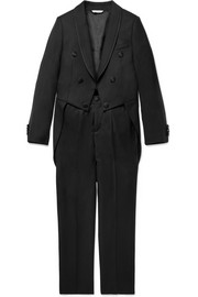 Ages 6 - 12 grosgrain-trimmed wool-blend suit