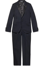 Ages 8 - 12 satin-trimmed wool-blend suit